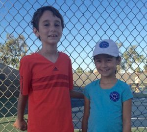 1st and 3rd place for the Irvine Tennis Jr Boys & Girls 10U October 2015